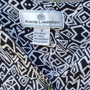 Vintage Maggie Lawrence Funky button up shirt Med